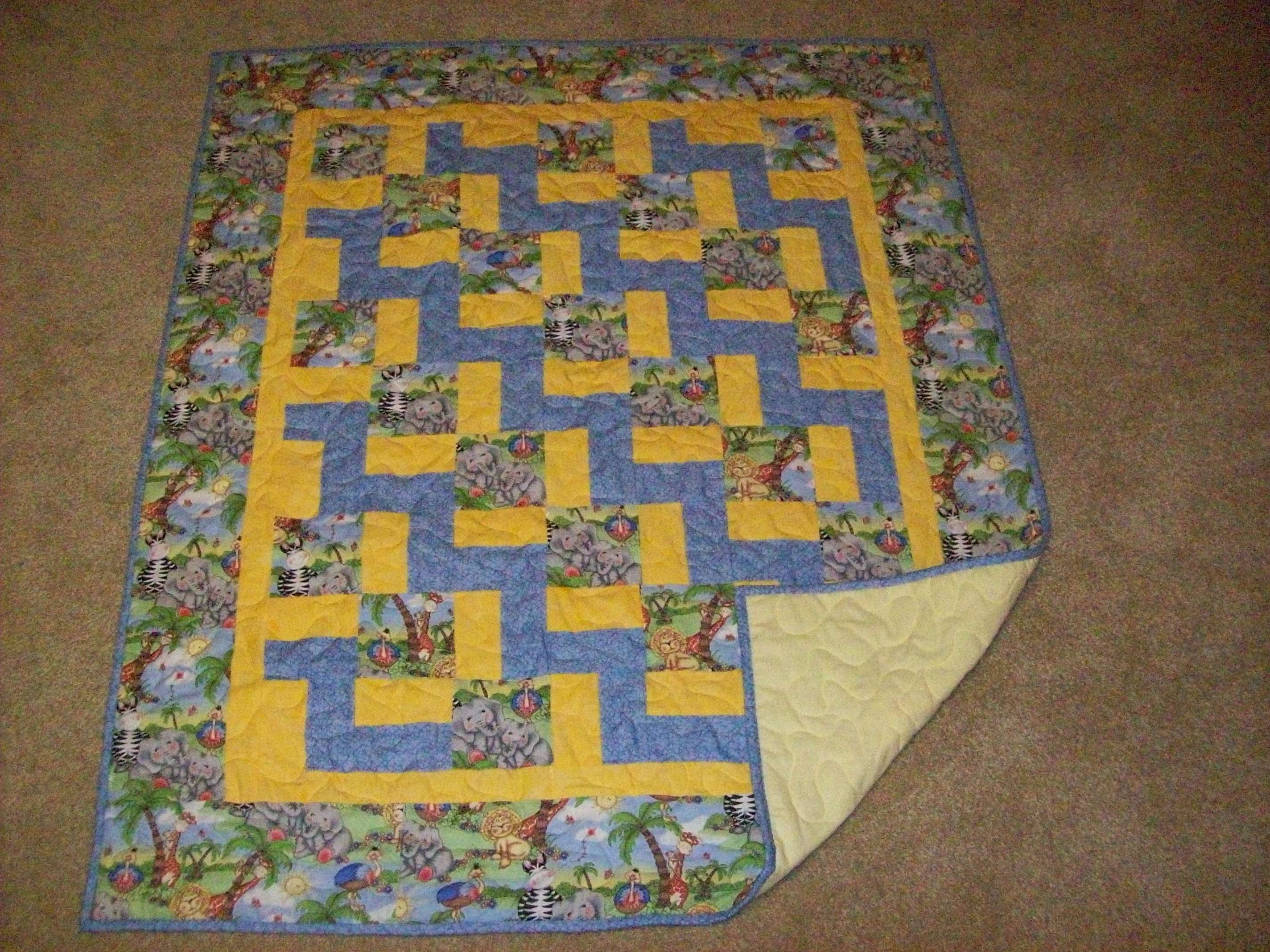 Pieced Bazoople Baby Quilt 2